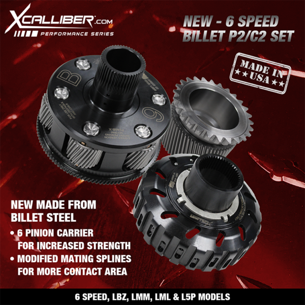 PERFORMANCE BILLET P2 CARRIERS & C2 BILLET HUBS